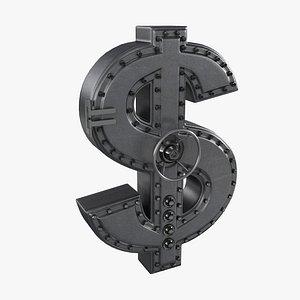 3D dollar safe model