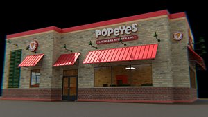 3D Popeyes Building