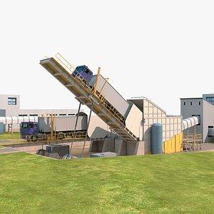 3D model Truck unloading platform
