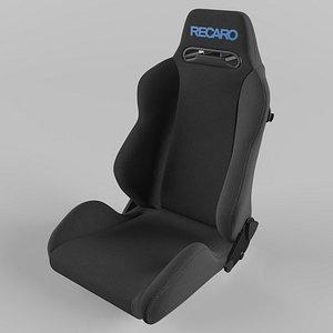 3D RECARO Speed Logo Blue Seat model