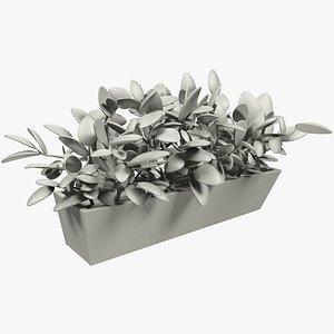 3D stylized flower pot