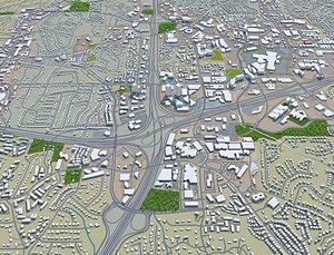 3D model Sandy Springs Georgia USA