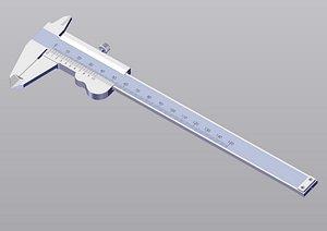 caliper modeled rendered 3D