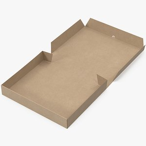 3D model pizza box mockup
