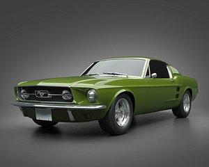1967 Ford Mustang Fastback 3D model