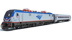 3D locomotive acs-64 passenger