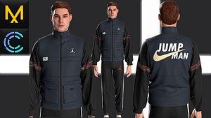 Outfit Male OBJ mtl FBX 3D model