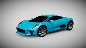 3D jaguar-c-x75