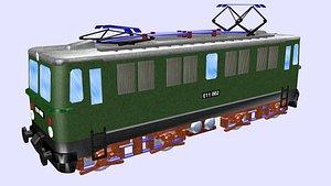3D class e11 electric locomotive model