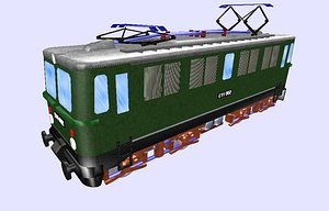 3D class e11 electric locomotive model