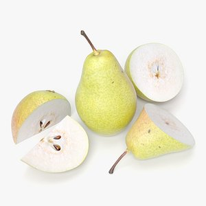 3ds pear sliced