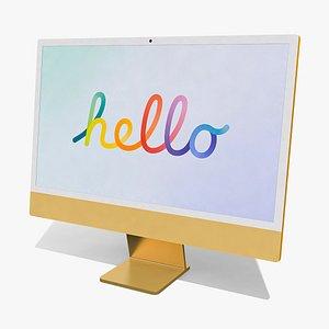 Apple iMac 24 inch Monitor 3D model