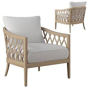 3D greystone chair model