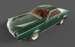 AMC AMX 1968 3D model
