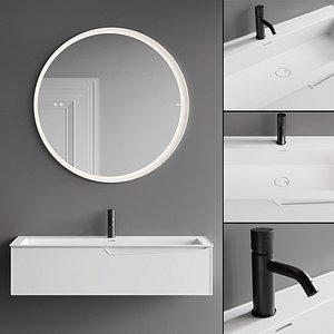 Fiora Frame Vanity Unit Set 1 model