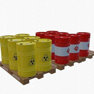 Barrel 01 Radioactive and Flammable 3D model