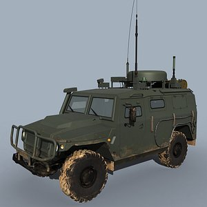 russian p-230t command vehicle 3D