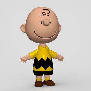 3D charlie brown character model