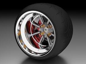3D watanabe alloy wheel model
