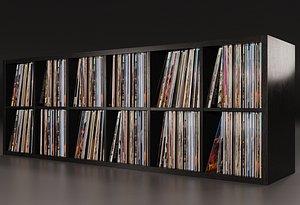 3D Vinyl Storage No-12 model