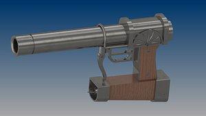 3D Attack on Titan Anti Personnel Gun model