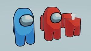 among us characters 3D