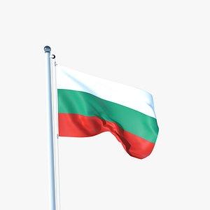 Animated Flag of Bulgaria model