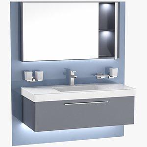 3D model sink unit