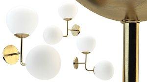 3D chandelier lighting model