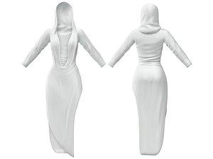 3D white daring deep cleavage