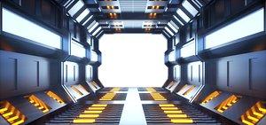 3D model Technology tunnel travel through future space technology travel through tunnel time tunnel time trav