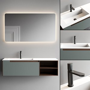 3D model Antonio Lupi Design Orma Vanity Unit Set 3
