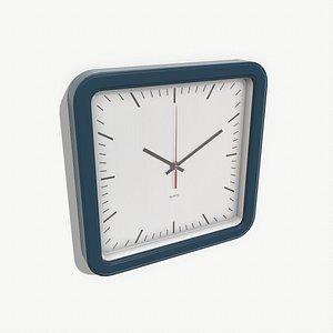 3D model low-poly wall clock
