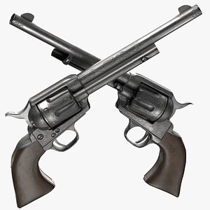 3D model Revolver - Colt Frontier Six Shooter