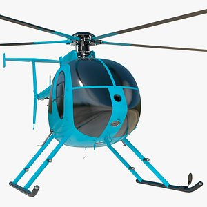 Light Helicopter Exterior Only 3D model