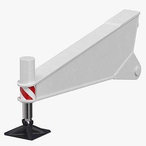 3D model crane outrigger 02 white