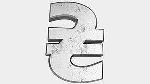 symbol currency 3D model