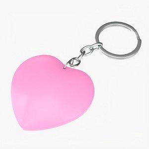 Keychain heart shaped 02 3D model