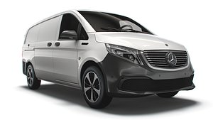 3D Mercedes Benz EQV Cargo Van L2 2021