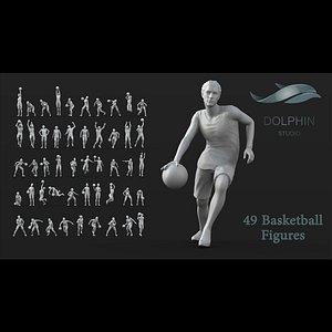 3D 49basketballPlayerfigures