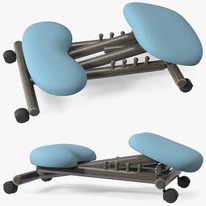 Ergonomic Kneeling Chair Folded 3D model