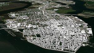 Cityscape Charleston South Carolina USA 3D model