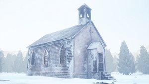 3D western 1800s church