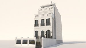 3D Classic Facade Building