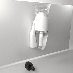 3D Fragrance Diffuser Plug with Empty Bulb model