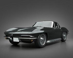 3D model 1963 Chevrolet Corvette