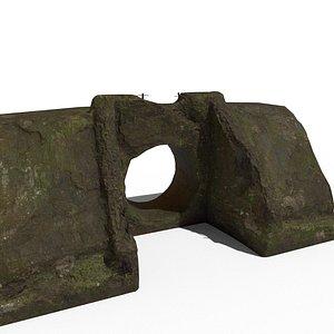 pipe concrete old 3D