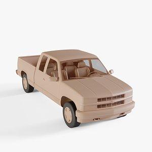 3D chevrolet 1500 pickup