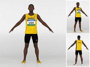 Athlete Runner 02 model
