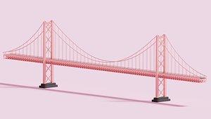 3D cartoon hanging bridge